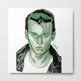 Johnny Depp - Green Metal Print