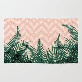 Tropical Ferns on Pink #society6 #decor #buyart Rug