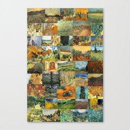 Vincent van Gogh Montage Canvas Print