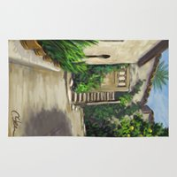 arab Area & Throw Rugs featuring Arab Baths in Palma DP150724a by CSteenArt