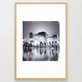 Sultanate Of Oman - Royal Opera House (Black & White) Framed Art Print