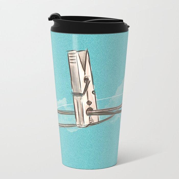 Boho Clothespin Metal Travel Mug