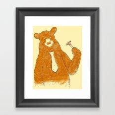 Office Bear Framed Art Print