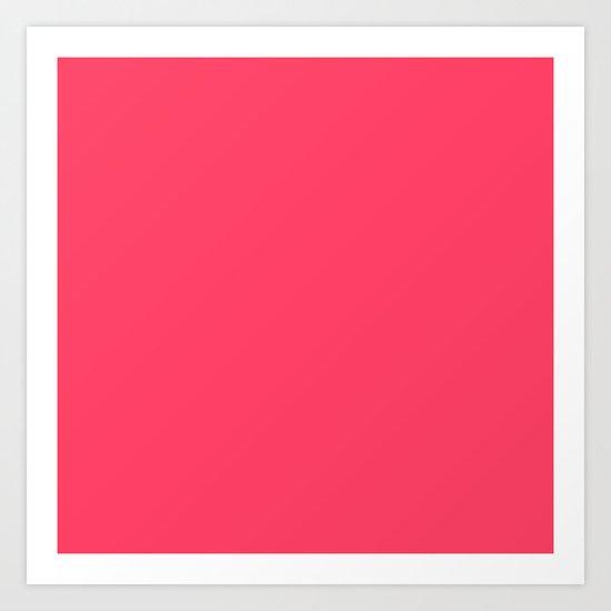 Pinky Red Art Print