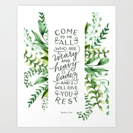 Come & Rest Art Print