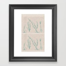 Plants in a Line Framed Art Print