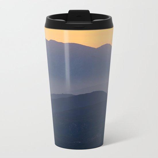 Mountain Sunset (Big Bear Lake, California) Metal Travel Mug