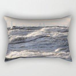 City and Waves Rectangular Pillow