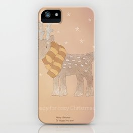 Christmas creatures- The Cozy Deer iPhone Case