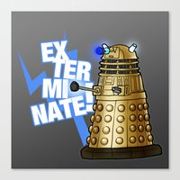 dalek Canvas Prints featuring Dalek by StudioMarimo