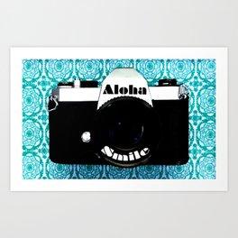 Smile Aloha Art Print