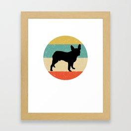 Boston Terrier Dog Gift design Framed Art Print