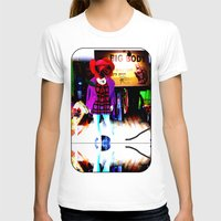 shopping T-shirts featuring Window Shopping by Khana's Web