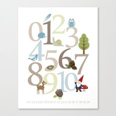Woodland Numbers Canvas Print