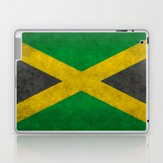 Jamaican flag, Vintage retro style Laptop & iPad Skin