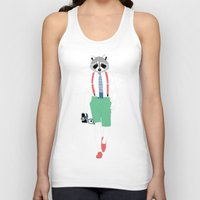 raccoon Tank Tops featuring Raccoon by Nathalie Otter