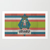 gremlins Art Prints featuring Gremlinos Late night restaurant by Evil Ice Cream