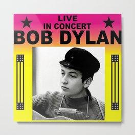 Vintage 1966 Centrum, Worcester, Massachusetts Bob Dylan Concert Billboard Gig Poster Metal Print