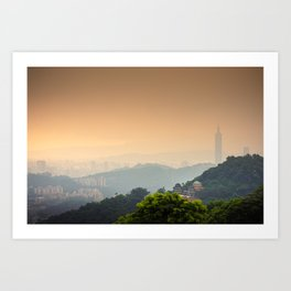 Chi Nan Temple in hills of Maokong, Taipei, Taiwan Art Print