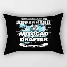 Autocad Drafter Gift Superhero Autocad Drafter Rectangular Pillow