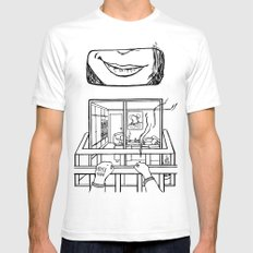 4EVER A VOYEUR Mens Fitted Tee White SMALL