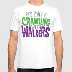 Crawling Walkers SMALL White Mens Fitted Tee