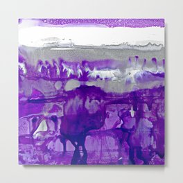 Winter in Purple and Silver Metal Print
