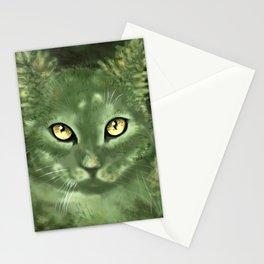 Fern Cat- El gato helecho Stationery Cards