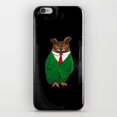 Owl in suit iPhone & iPod Skin