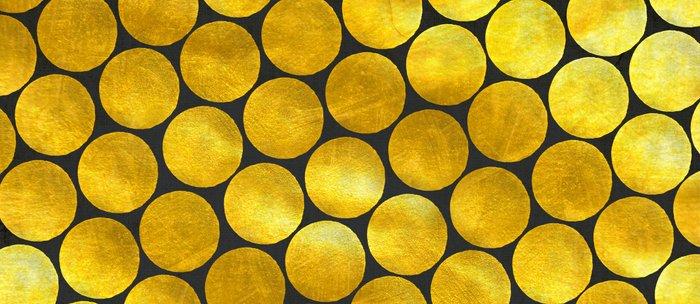 Gold Polka Dots Coffee Mug