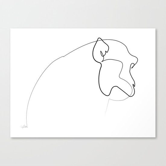Monkey Line Canvas Print