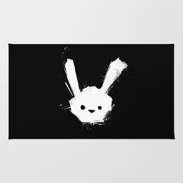minima - splatter rabbit  Rug