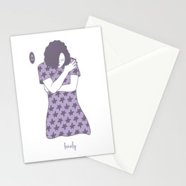 Cheongsam illustration lonely Stationery Cards