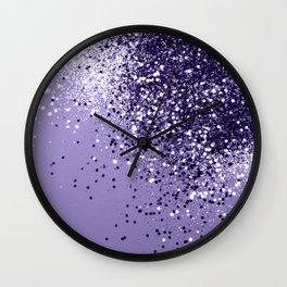 ULTRA VIOLET Glitter Dream #1 #shiny #decor #art #society6 Wall Clock
