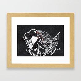Experimental Smoking Lizard Framed Art Print