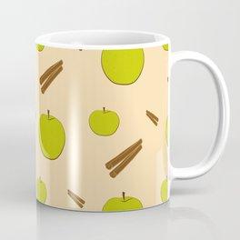 Sweet pattern with apple and cinnamon Coffee Mug