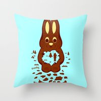 hunting Throw Pillows featuring Chocolate Hunting by Matt Wasser