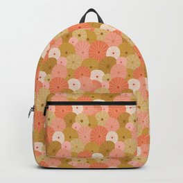 Sea Urchins in Coral + Gold Backpack