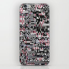 Comfortable Ambiguity (P/D3 Glitch Collage Studies) iPhone Skin
