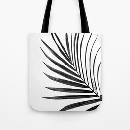 Simple palm leaves in black Tote Bag