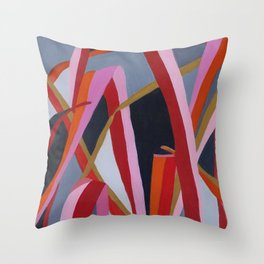 Motutara Harakeke  | abstract painting of nature Throw Pillow