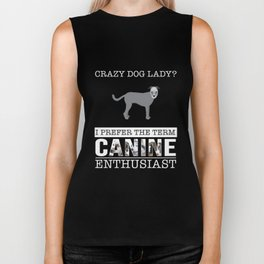Crazy Wolfhound Dog Lady I Prefer The Term Canine Enthusiast Biker Tank