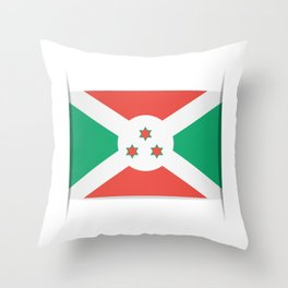 Flag of Burundi.  The slit in the paper with shadows. Throw Pillow
