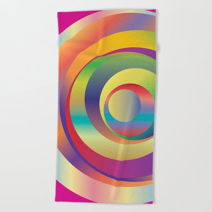 Circles - Optical Game 9 Beach Towel