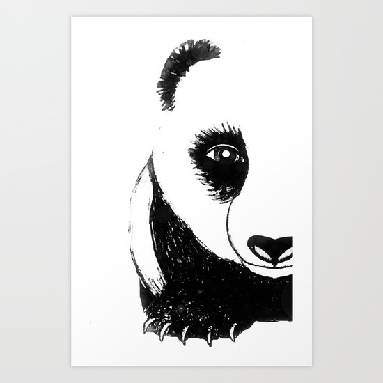 Peeking Panda Art Print