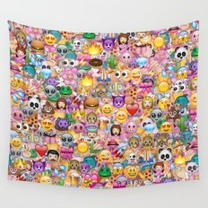 emoji / emoticons Wall Tapestry