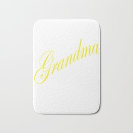 I'm the Grandma The Rules Don't Apply To Me - yellow Bath Mat