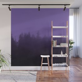 Licorice Forest with Ultra_Violet Fog, Alaska Wall Mural
