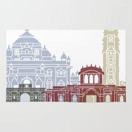 Ahmedabad skyline poster Rug