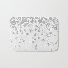 Soft Silver Gray Trailing Ivy Leaf Print Bath Mat